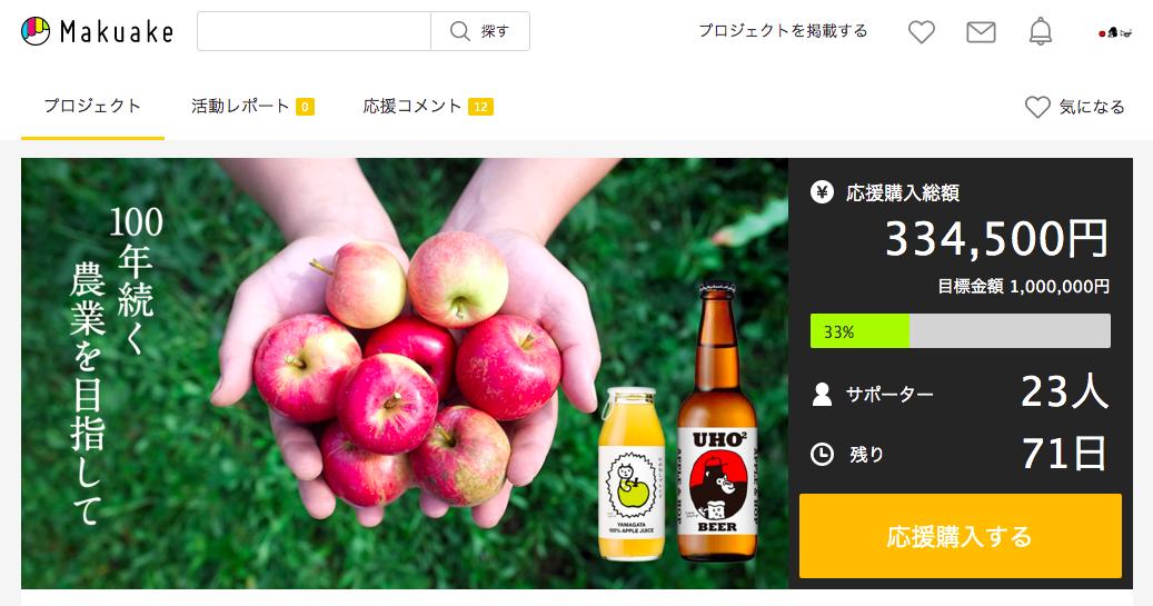 マクアケ りんご